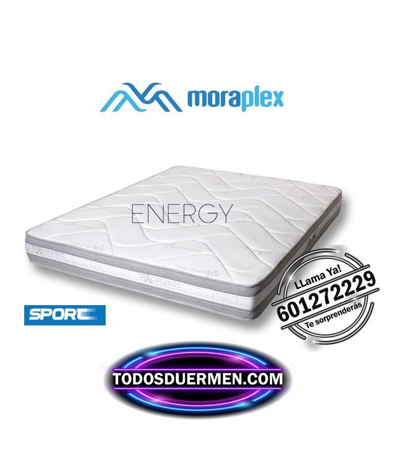Colchón de Muelles Energy Para Deportistas  Moraplex TodosDuermen.com