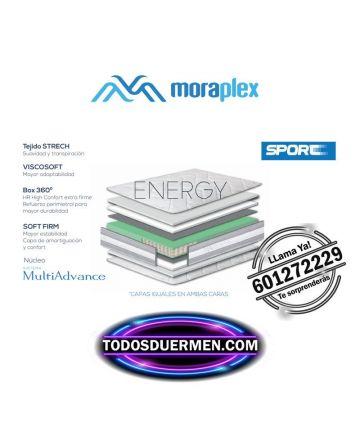 Ficha técnica Colchón Muelles Energy Deportistas Moraplex TodosDuermen.con