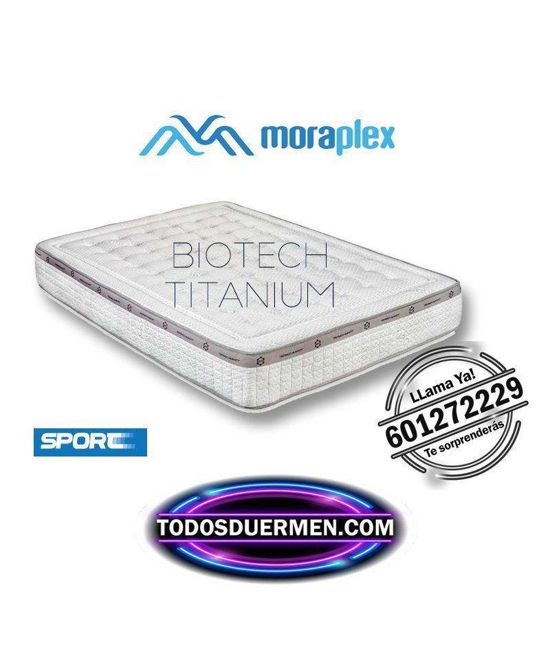 Colchón Viscoelástico Biotech Titanium Especial para deportistas  Moraplex TodosDuermen.com envío gratis