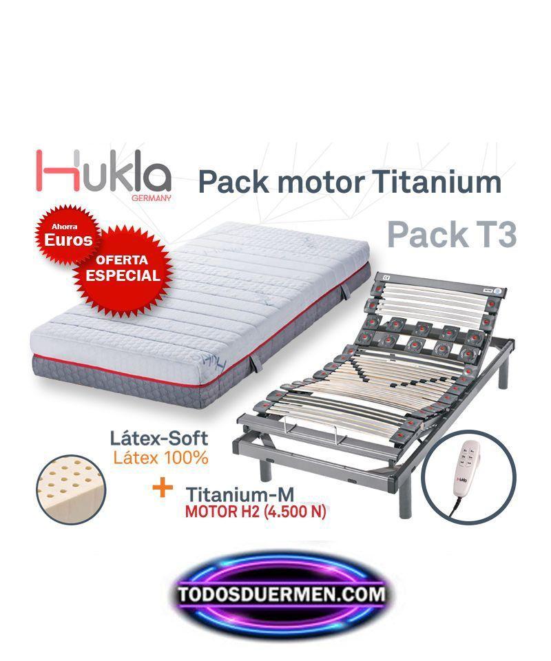 pack ahorro cama articulada + colchon latex