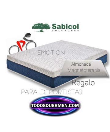 Colchòn Viscoelástico Emotion Ecológico Para Deportistas con almohada de regalo Sabicol TodosDuermen.com