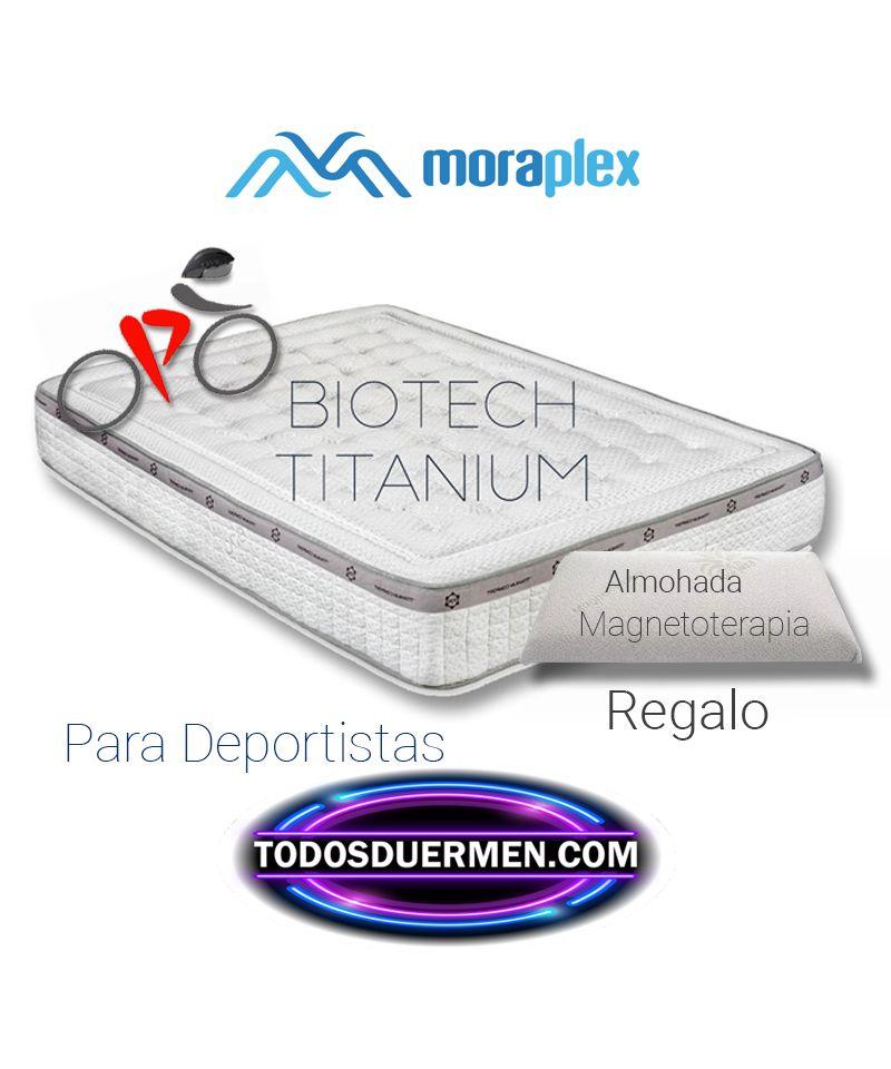 Colchón Viscoelástico Biotech Titanium para deportistas con Almohada Moraplex TodosDuermen.com
