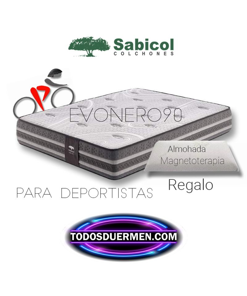 Colchón Viscoelástico EvoNero90  para Deportistas Sabicol Todosduermen.com