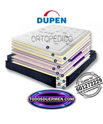 ficha técnica Colchón Ortopédico Muelles Descanso Lumbar Dupen TodosDuermen.Com