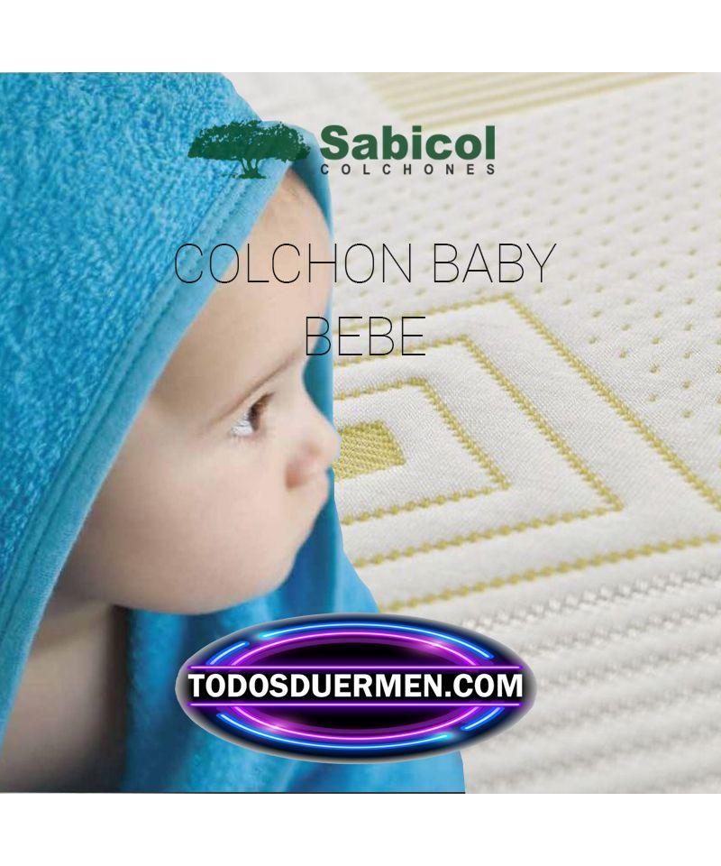 Colchones Para Cuna de Bebes Baby Ecológico Antiasfixia Sabicol TodosDuermen.com