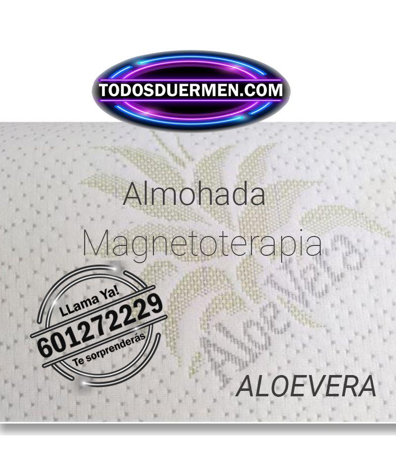 Almohada Viscoelástica MagnetoTerapía para personas con problemas musculares y circulatorios Aloe Vera TodosDuermen.com
