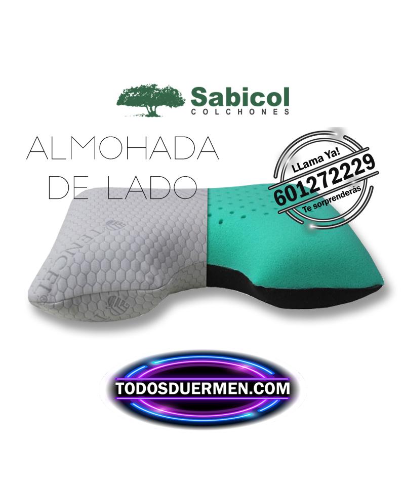 Almohada Viscoelástica Para Dormir De Lado Diseño Exclusivo Alta Tecnología Ecológica Sabicol TodosDuermen.com